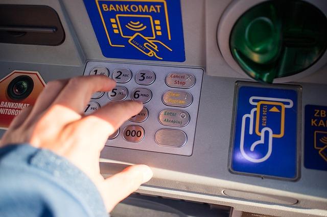 アメリカの銀行のATMの操作方法