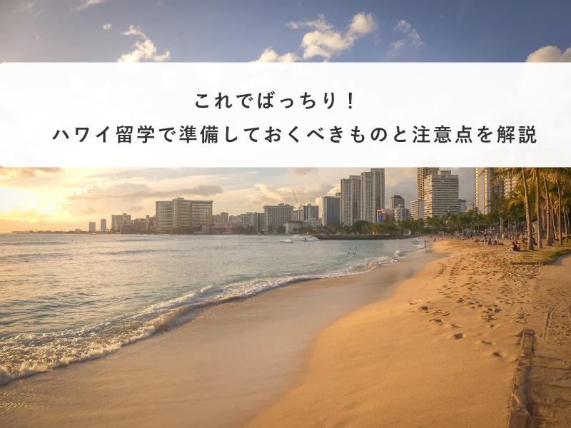 これでばっちり!ハワイ留学で準備しておくべきものと注意点を解説