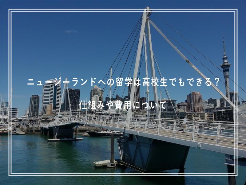 ニュージーランドへの留学は高校生でもできる?仕組みや費用について