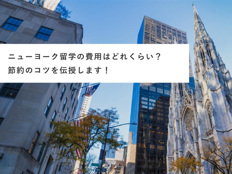 ニューヨーク留学の費用はどれくらい?節約のコツを伝授します!