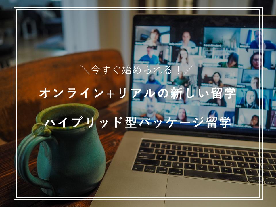 今すぐ始められる!オンライン+リアルの新しい留学【ハイブリッド型パッケージ留学】