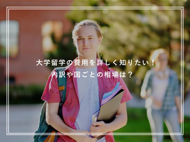 大学留学の費用を詳しく知りたい!内訳や国ごとの相場は?