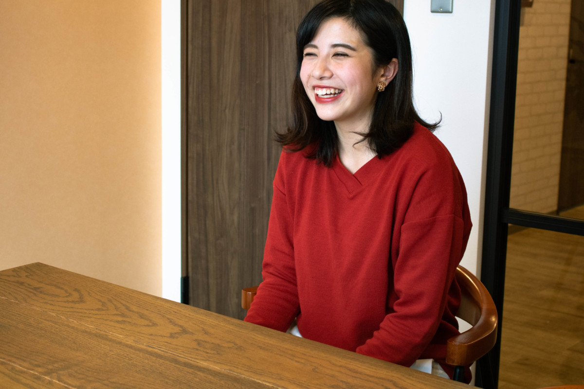 西尾さん笑顔