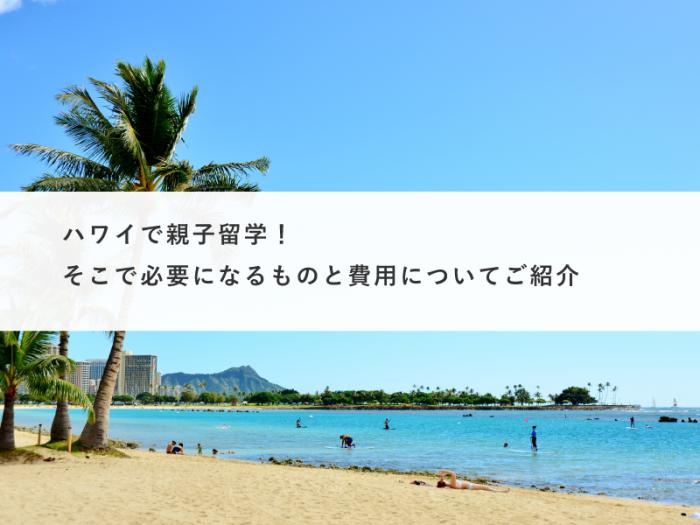 ハワイで親子留学!そこで必要になるものと費用についてご紹介