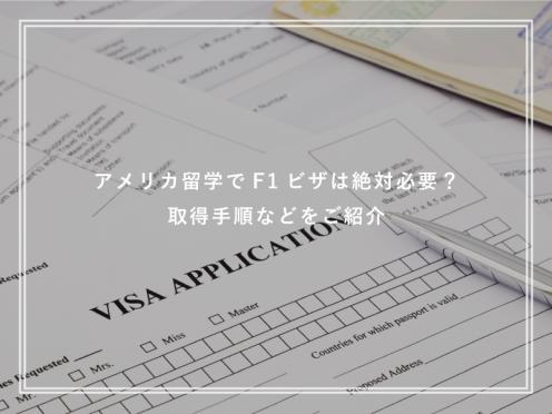 アメリカ留学でF1ビザは絶対必要?取得手順などをご紹介